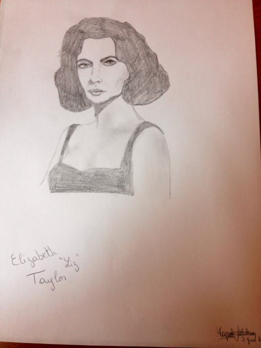 Elizabeth Taylor by Margalith